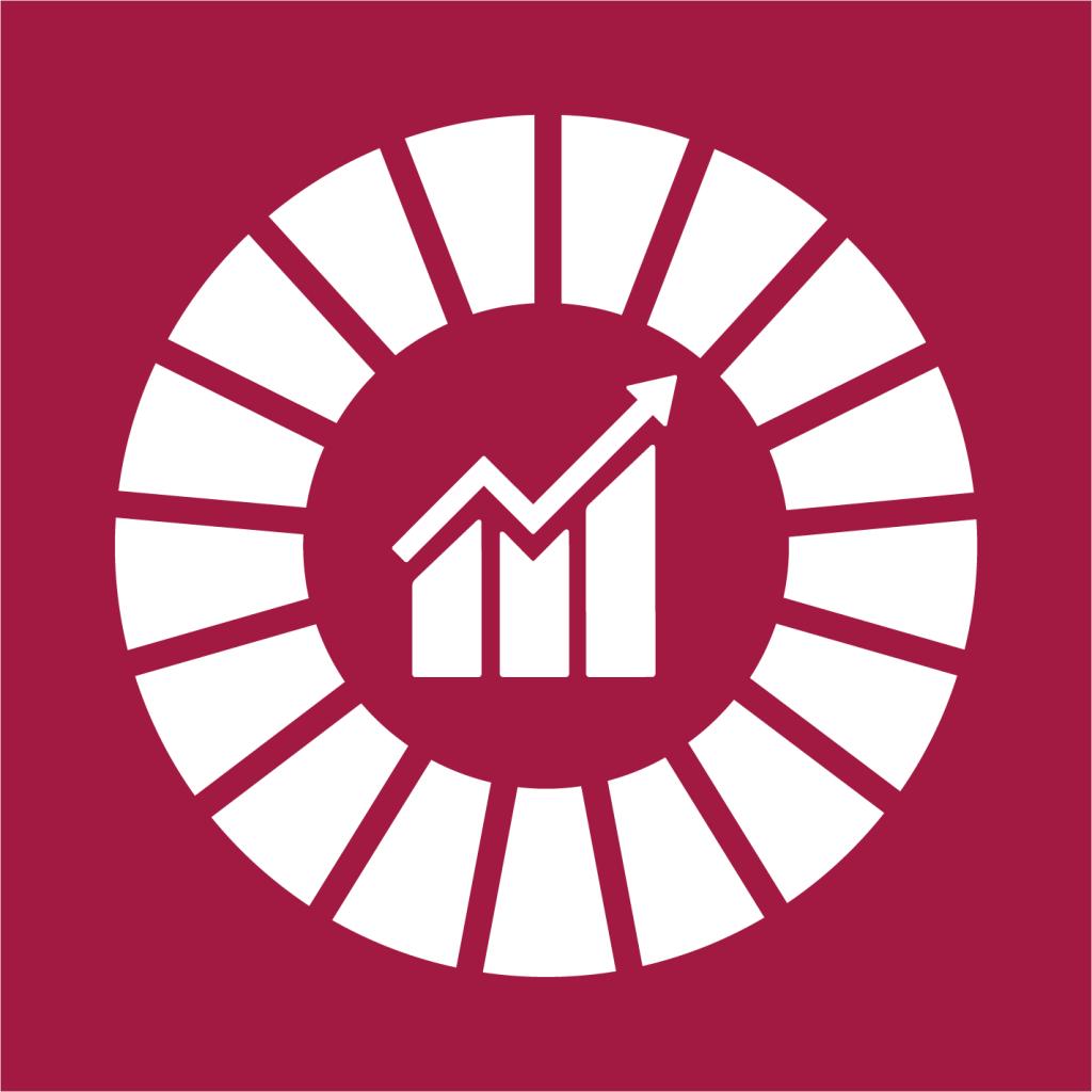 Ikon för delmål 8.1: Hållbar ekonomisk tillväxt