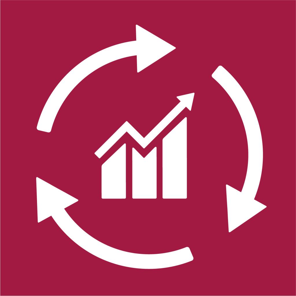 Ikon för delmål 8.4: Förbättra resurseffektiviteten i konsumtion och produktion