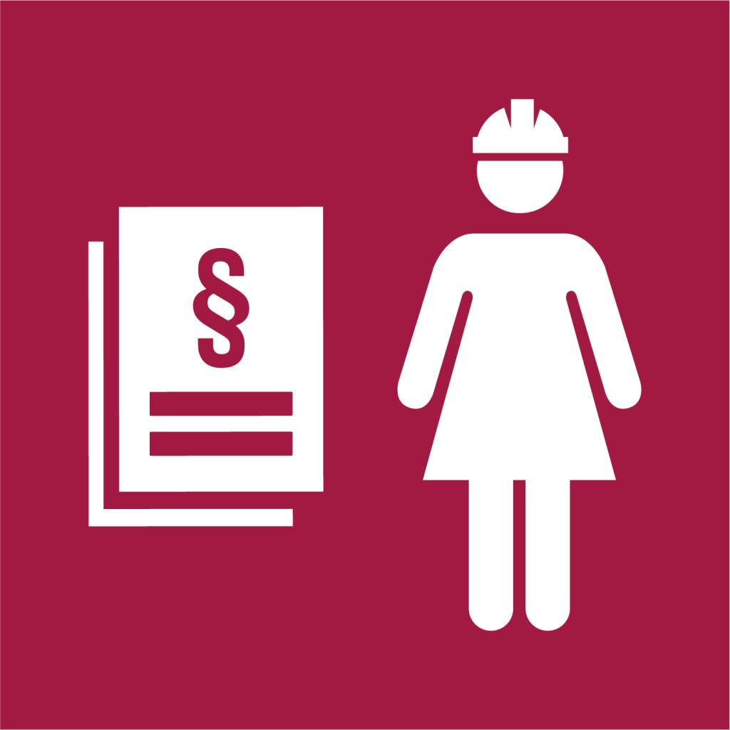 Ikon för delmål 8.8: Skydda arbetstagares rättigheter och främja trygg och säker arbetsmiljö för alla