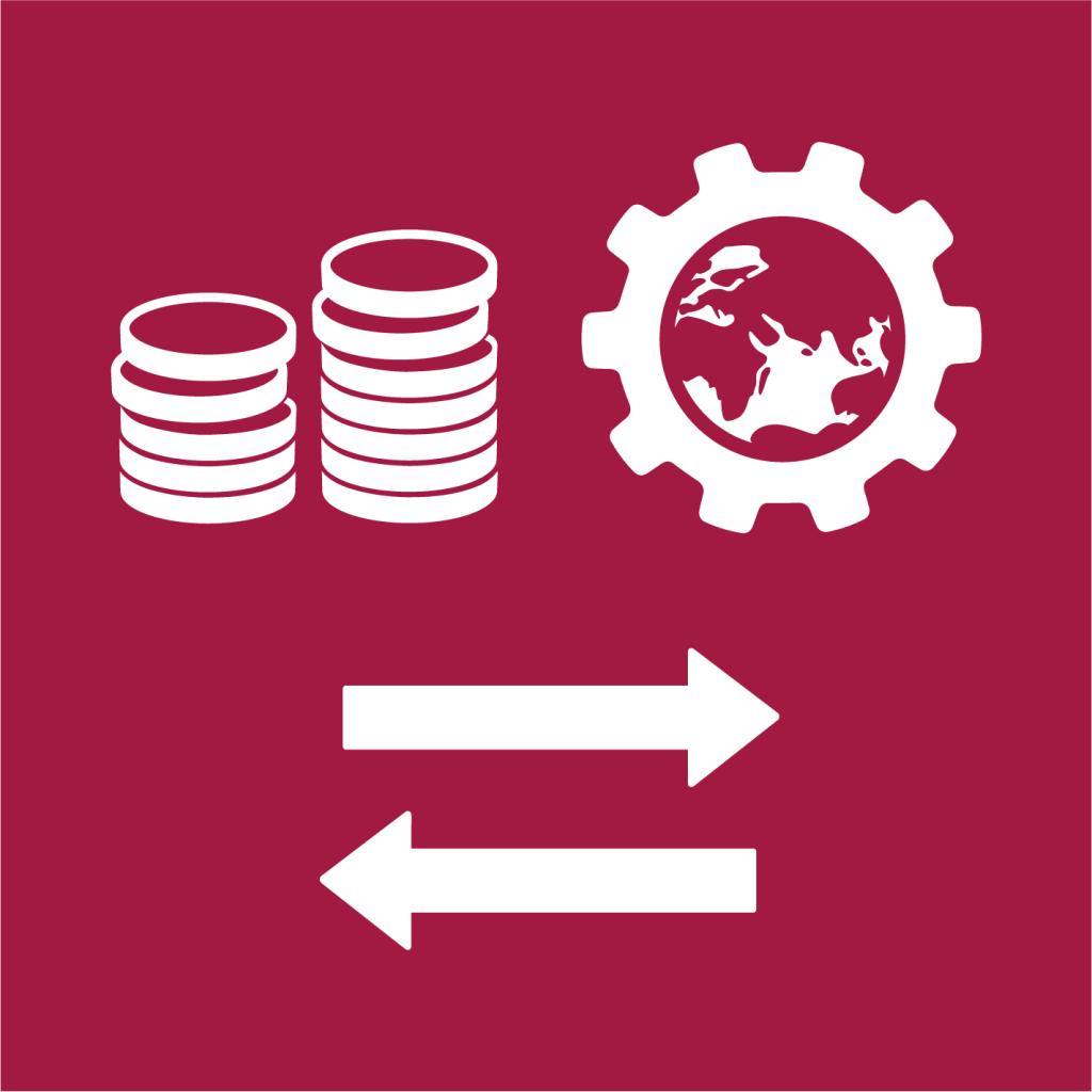Ikon för delmål 8.A: Öka handelsstödet Aid for Trade för utvecklingsländer