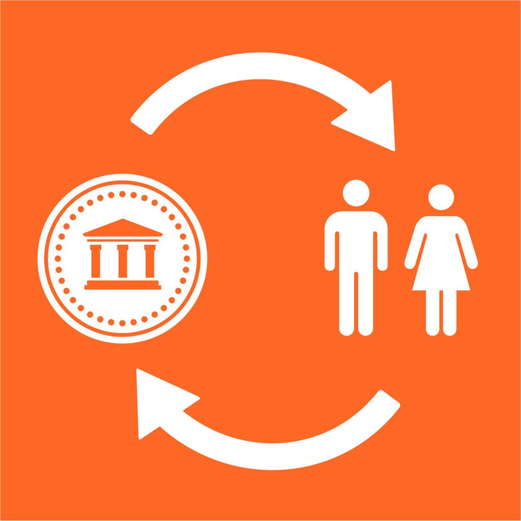 Ikon för delmål 9.3: Underlätta tillgången till finansiella tjänster och marknader