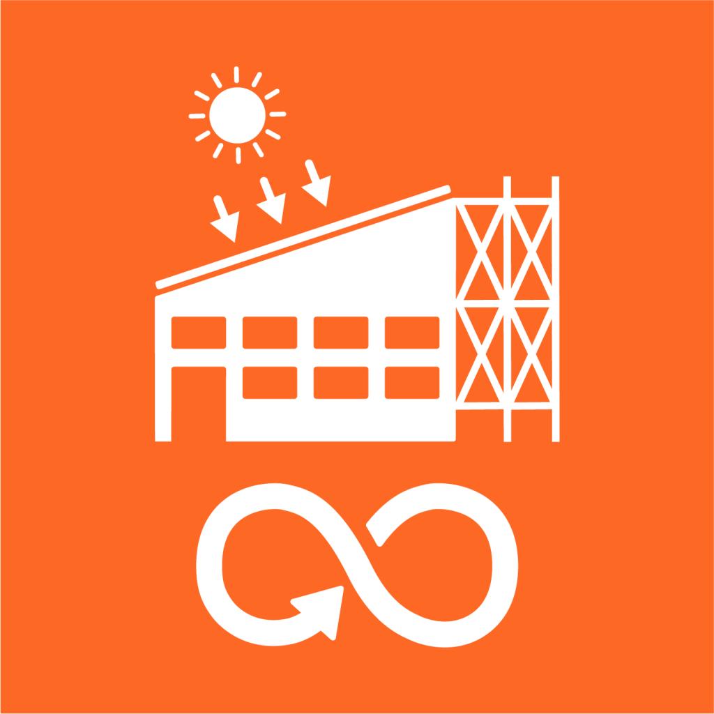 Ikon för delmål 9.4: Uppgradera all industri och infrastruktur för ökad hållbarhet