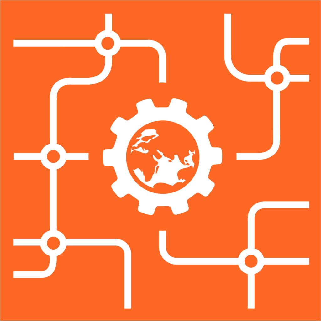 Ikon för delmål 9.A: Främja utveckling av hållbar infrastruktur i utvecklingsländer