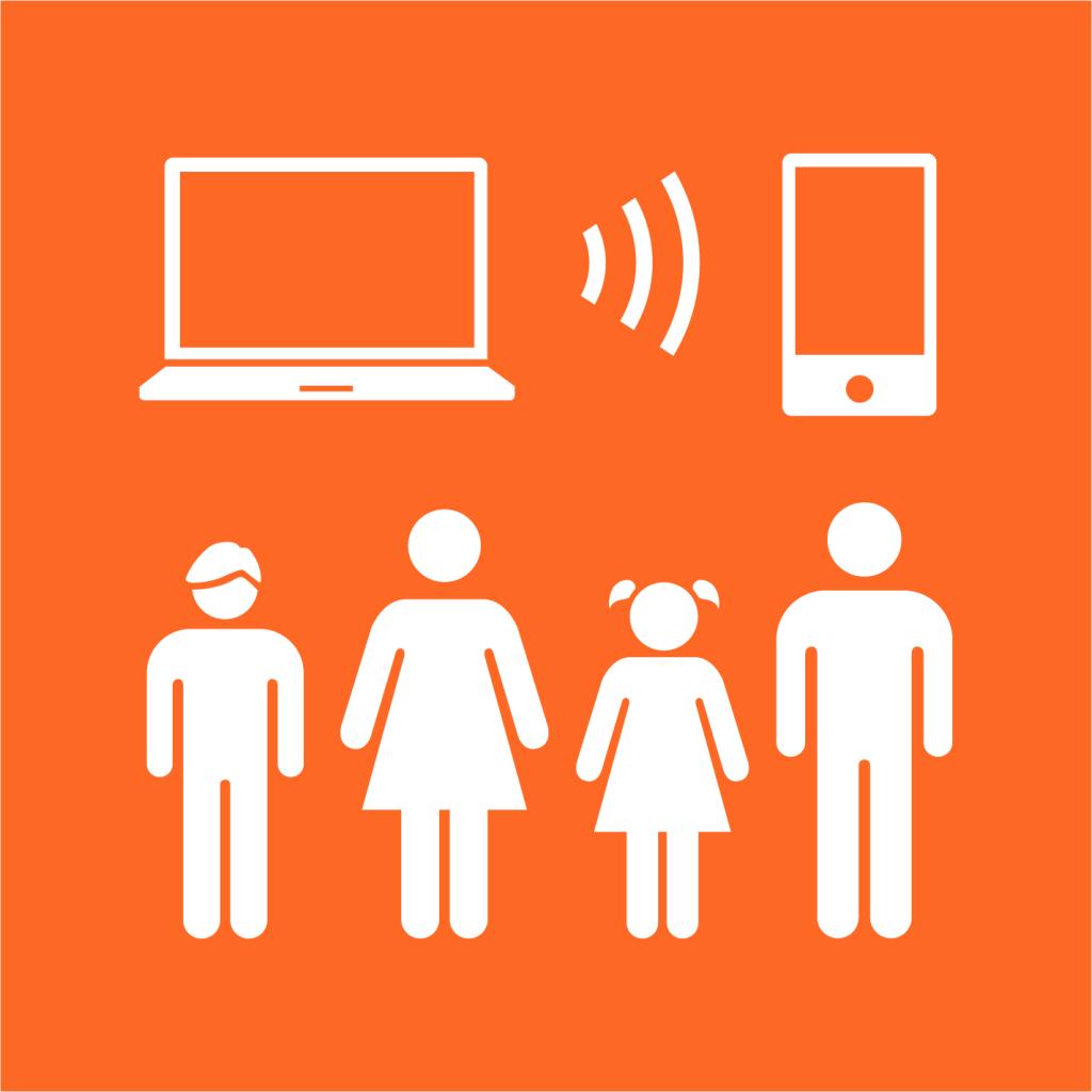 Ikon för delmål 9.C: Tillgång till informations- och kommunikationsteknik för alla