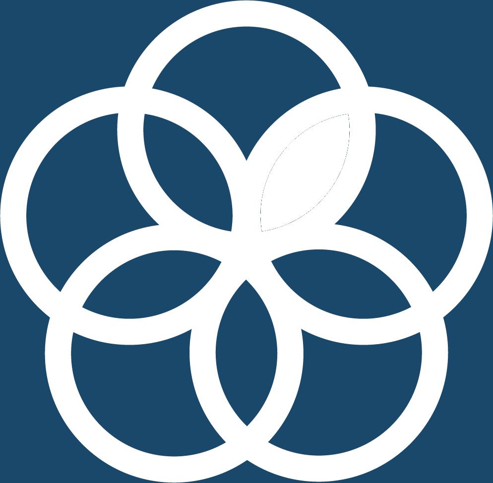 17. Genomförande och globalt partnerskap. Fem ringar överlappar varandra i en cirkel.