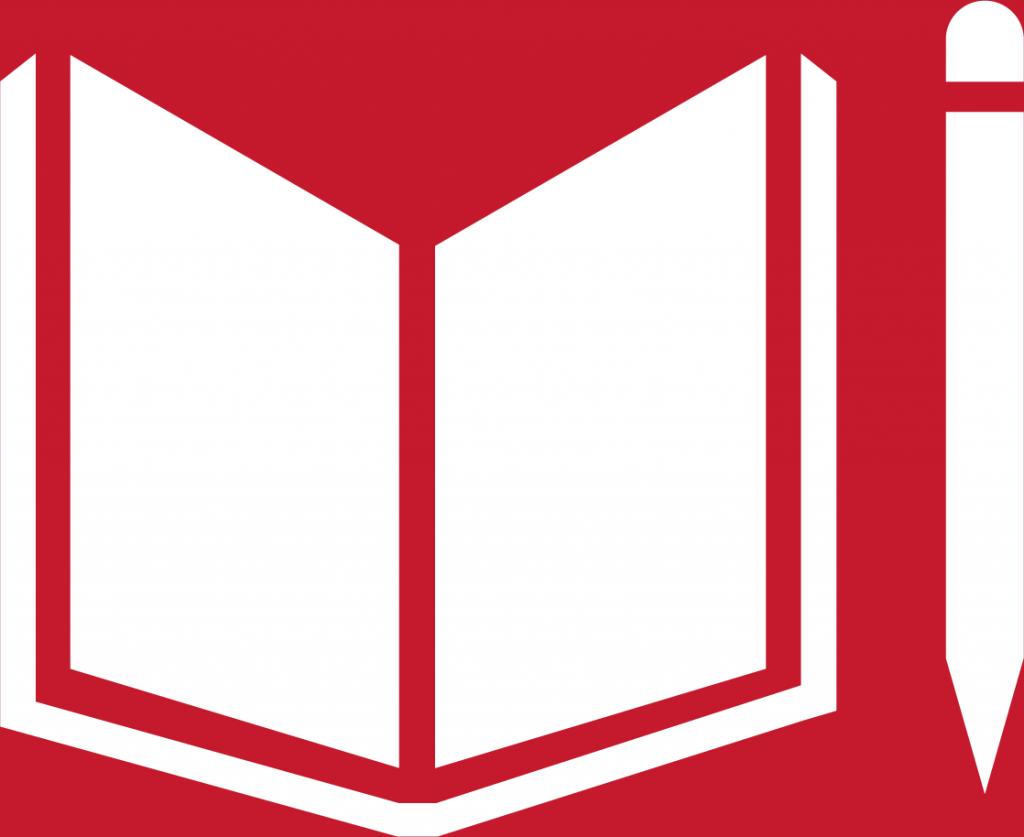 4. God utbildning för alla. En uppslagen bok med en penna bredvid.